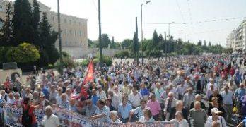 Μαζικά διαδήλωσαν οι συνταξιούχοι