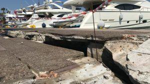 το λιμάνι της Κω από το σεισμό