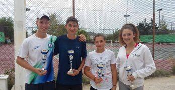 Πρωτιά για την 13χρονη Βικτώρια Παπαδοπούλου στο Τένις και για τον Γιώργο Φώκιαλη στην κατηγορία των 35 ετών
