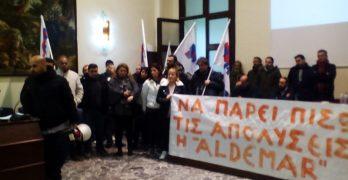 Παρέμβαση συνδικαλιστών για τις απολύσεις στην Aldemar. Τραμπουκισμοί από τον διευθυντή